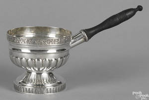 Philadelphia coin silver brandy warming pan ca 1815