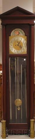 Colonial Mfg Co Mahogany Tall Clock