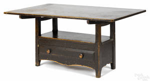 Pennsylvania pine bench table 19th c