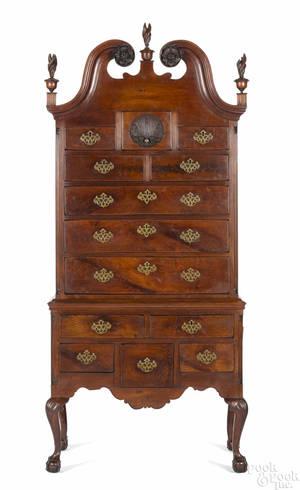 Philadelphia or Baltimore Chippendale walnut high chest ca 1765