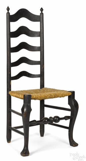 Delaware Valley fiveslat ladderback side chair ca 1760