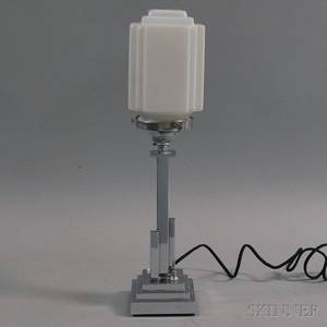 Small English Art Deco Chrome Lamp