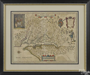 Engraved map of Virginia