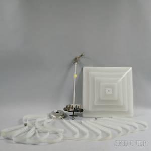 Appleman Art Glass Works Art Deco Glass Chandelier