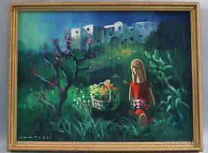 Eliano Fantuzzi Italian 19091987 Gathering Wildflowers