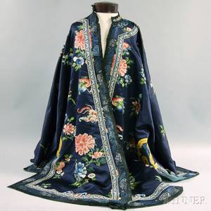 Silk Embroidered Chinese Export Surcoat
