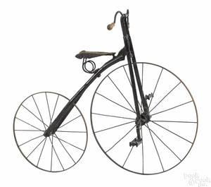 Childs steel high wheel bicycle late 19th c