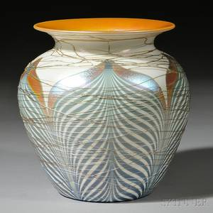 Durand Threaded Pulled Feather Vase