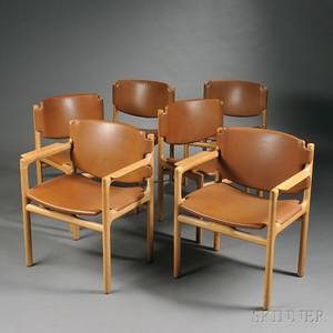 Six Bruno Mathsson Dining Chairs