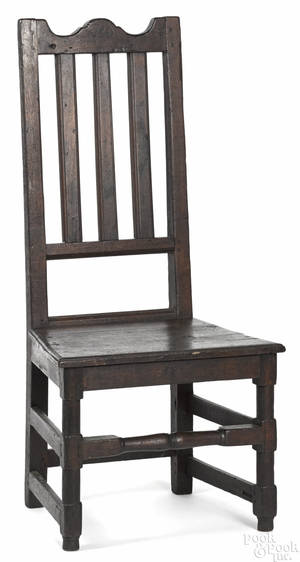 Southeastern Pennsylvania William  Mary walnut banisterback side chair ca 1730