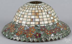 Handel patinated bronze table lamp