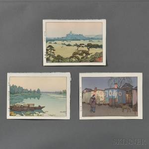 Toshi Yoshida 19111995 Three Color Woodblock Prints