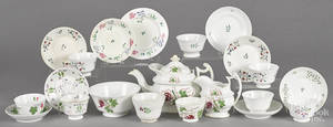 Assembled English porcelain tea service