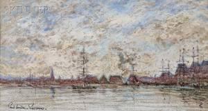 Paul Emile Pissarro French 18841972 Marine Distant