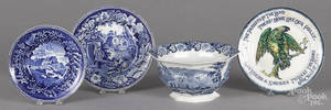Blue Staffordshire Italian scenery bowl