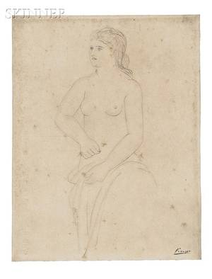 Pablo Picasso Spanish 18811973 Femme retenant son peignoir