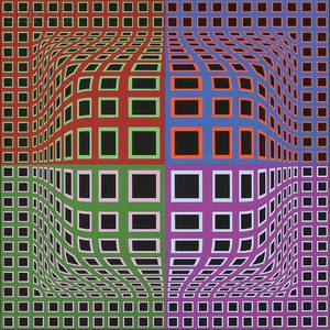 Victor Vasarely FrenchHungarian 19061997 Untitled