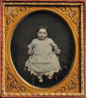 Two 19th Century American School Daguerreotypes Sixthplate Daguerreotype of a Child