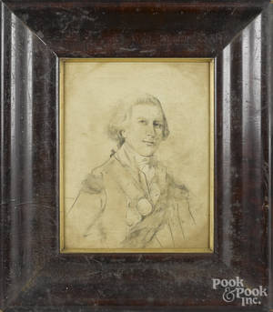 Ink and wash study of George Washington