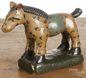 Contemporary carved and painted horse