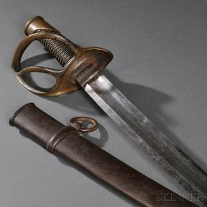 Model 1840 Ames Light Artillery Cavalry Saber and Scabbard