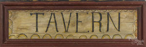 Contemporary painted pine  Tavern  sign