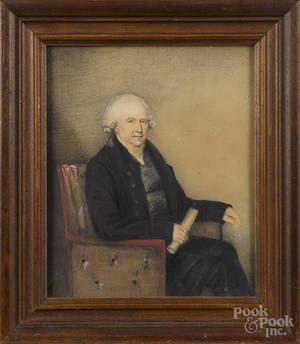 Watercolor and gouache portrait of Thomas Lewis OBeirne