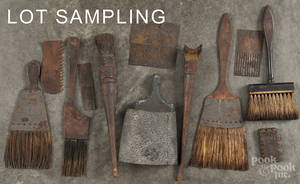 Painters wood graining tools