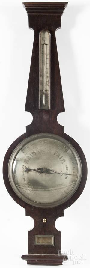 New York rosewood veneer barometer
