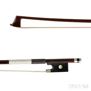 English Nickel Silvermounted Violin Bow
