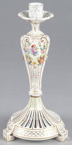 Dresden porcelain candlestick