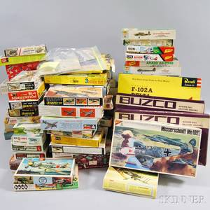 Large Collection of Mostly 1940s and 1950s Boxed Aviation Model Kits