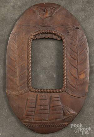 Carved frame