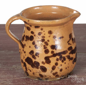 Continental redware pitcher