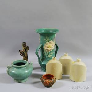 Seven Pieces of Molded American Art Pottery