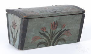 Scandinavian painted pine trinket box