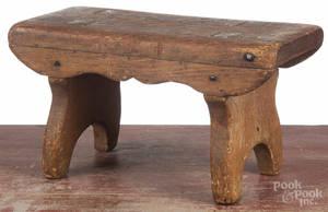 Pine mortised footstool