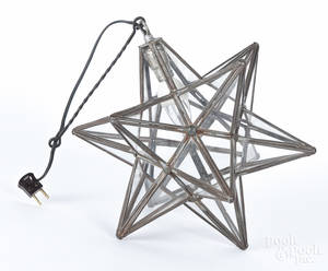 Tin Moravian star hanging light