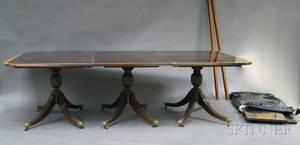Regencystyle Triplepedestal Dining Table