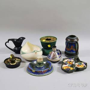 Eight Pieces of Dutch Art Pottery