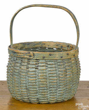 Split oak basket 19th c