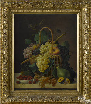 American oil on canvas still life 19th c