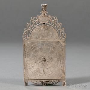 Engraved Silver Desk Clock