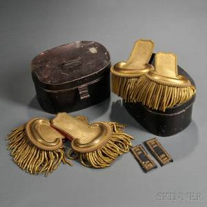 Two Pairs of Civil War Officers Epaulettes and a Pair of Shoulder Straps