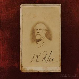 Robert E Lee Signed Cartedevisite