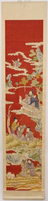 20th C Chinese Figural Scroll Painting