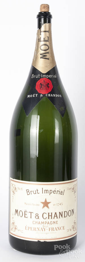 Large French  Brut Imperial Champagne  bottle