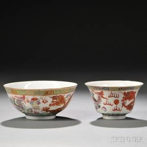 Famille Rose Bowl and Teacup
