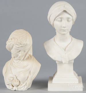 Sevres parian bust of a maiden