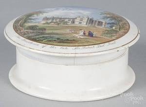 Pearlware pot lid